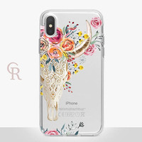 Skull Clear Phone Case - Clear Case - For iPhone 8 - iPhone X - iPhone 7 Plus - iPhone 6 - iPhone 6S - iPhone SE Transparent - Samsung S8