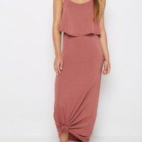 Burnt Orange Popover Maxi Dress | Maxi Dresses | rue21