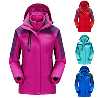 Thermal Woman Winter  3 in 1 Jacket Women Windproof Waterproof Coat Mountaineering clothes