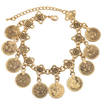 Gypsy Times Boho Coin Bracelet in Turkish Gold or Silver