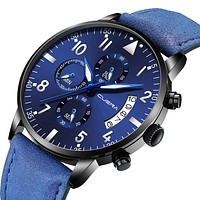 Sports Ultra Thin Analog Watches Men Military Luxury Watch