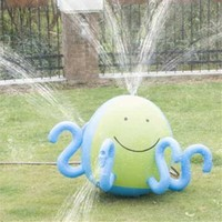 Octopus Shaped Inflatable Water Spray Ball Sprinkler Beach Lawn Kids Outdoor Toy