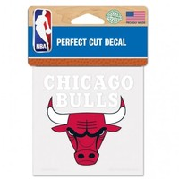 Chicago Bulls Decal 4x4 Perfect Cut Color