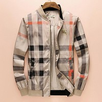 BURBERRY Classic Hot Sale Women Men Long Sleeve Zipper Cardigan Jacket Coat