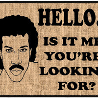 Hello Lionel Richie Door Mat - Welcome Mat, Entrance Mat 4 sizes - Free Shipping on US Orders