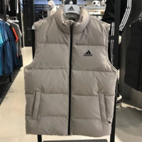 Adidas New Fashion Winter Letter Print Vest Keep Warm Men Coat Down Jacket Gray