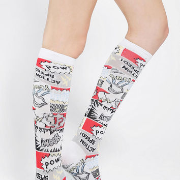 Urban Outfitters - Comic Book Knee-High Sock