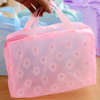Bathroom Stuff Bag Waterproof Transparent Toiletry Kits [11508475407]