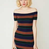 Mallard Stripe Sweater Dress