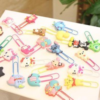 Cute Cartoon Characters Paper Clip Bookmark Promotional Gift Stationery School Office Supply Escolar Papelaria