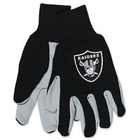 Raiders Two Tone Youth Size Gloves