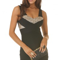 Party dresses > ANYWHERE WITH YOU DRESS IN BLACK