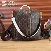 LV Louis Vuitton 2018 new wild female shoulder bag Messenger bag F-OM-NBPF Coffee print