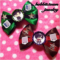 Attack on Titan Mikasa Levi Survey Corps Hair Bows
