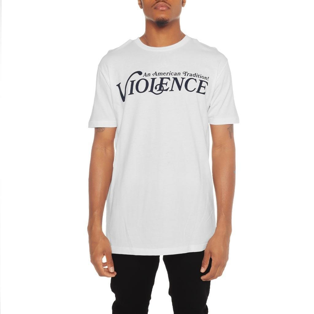 Image of Violence T Shirt White