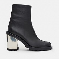 Opening Ceremony Isa Pebbled Leather Metallic Heel Boots - WOMEN - JUST IN - Opening Ceremony