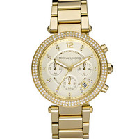 MICHAEL Michael Kors Parker Glitz Watch, Golden