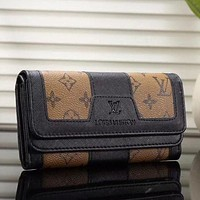 LV Louis Vuitton Women's Exquisite Stylish Premium Leather Wallet F