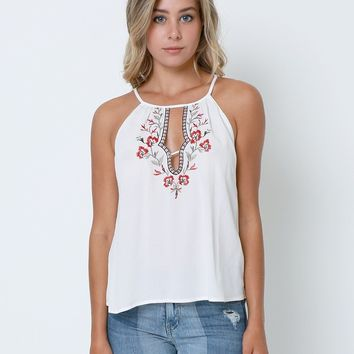 Above All Tank Top - White