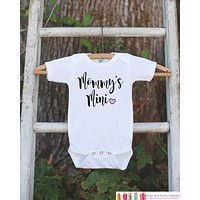 Mother's Day Outfit - Mommy's Mini - Kids Happy Mother's Day Onepiece or Tshirt - Baby Girl Shirt - Happy First Mothers Day Gift Idea
