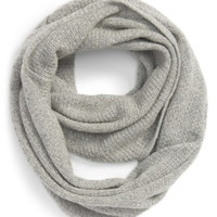 Pointelle Knit Wool & Cashmere Infinity Scarf