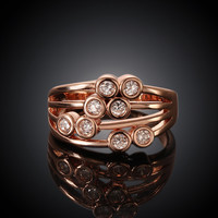Multilayer Rose Gold Plated Ring