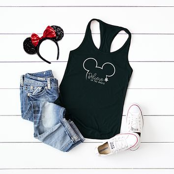 Believe in the Magic - Disney Christmas | Racerback Tank