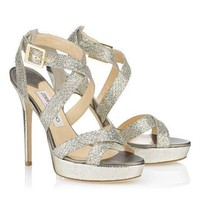 Jimmy Choo WoMensequins Buckle Heels Shoes Sandals-1
