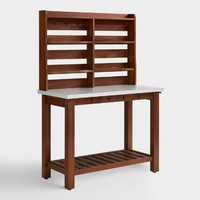 Wood Jakob Outdoor Buffet and Hutch Set