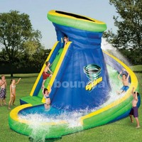 inflatable slide with pool, swimming pool slide, inflatable with pool - Product Picture From Guangzhou Bouncia Inflatables Factory