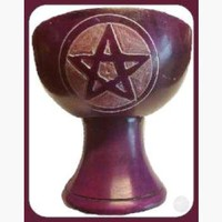 Purple Pentagram Chalice Incense Burner