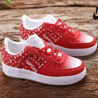 Nike LV Supreme Air Women Men Fashion Casual Running Sport Casual Shoes Sneakers Red G-CSXY