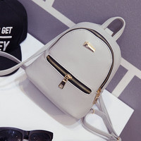 2016 Summer new female bag quality pu leather women bag Korean version sweet College students mini backpack girls small bags