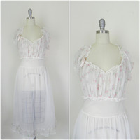 Vintage Light Pink Floral Nightgown