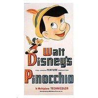 Pinocchio by Walt Disney 1940 MOVIE POSTER Catoon 24X36 HOT NEW RARE