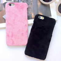 Furry Case Cover for iPhone 5s 6 6s Plus Gift-152