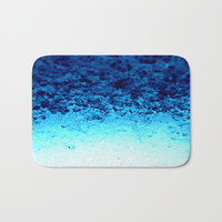Blue Crystal Ombre Bath Mat by 2sweet4words Designs