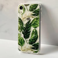 Palm Leaves Clear Phone Case