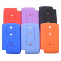 Silicone Case Cover Fit For Toyota Prius Crown Avensis Verso Remote Smart Key Fob 3 Buttons with Logo