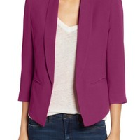 Mural 'Curve' Open Front Shawl Collar Blazer | Nordstrom