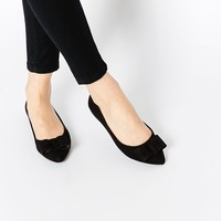 Carvela March Bow Point Flat Shoes