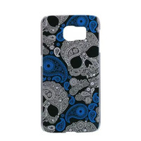 Samsung Galaxy S6 Skull Case Hard Plastic Galaxy S6 Day Of The Dead Samsung S6 Paisley Cover Halloween Gothic Punk Rock S624