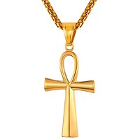 Ankh Necklace Egyptian Cross Necklace Egyptian Sign Of Like Ankh Bling