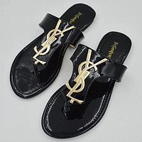 Yves Saint Laurent YSL 2020 new women's flip flops flat solid color jelly slippers shoes