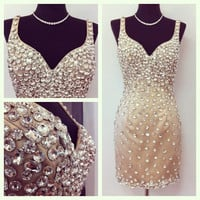 Beading Homecoming Dress,Crystal Homecoming Dresses