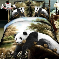 Cute Animal Panda Bedding Set and Quilt Cover