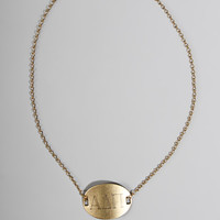 greek brass necklace - alpha delta pi