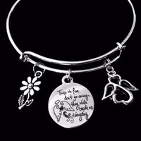Those We Love Don't Go Away They Walk Beside Us Everyday Bracelet Jewelry Memorial Adjustable Charm Bracelet Expandable Bangle Angel Family Loss Bereavement One Size Fits All Gift Remembrance Love One