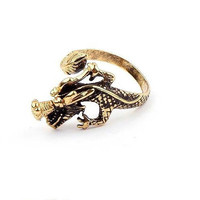 Vintage Style Exaggerated Punk Dragon Ring Inspired by Game of Thrones