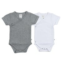 Organic Cotton Everyday Kimono Bodysuit Bundle - Gray